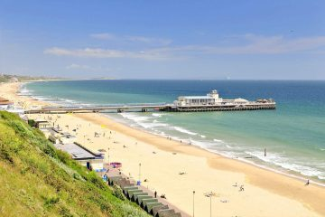photo de la plage de bournemouth